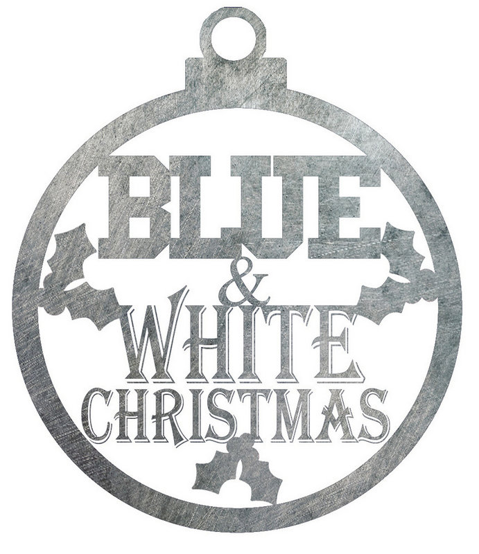 Penn State Blue & White Christmas Ornament Nittany Lions (PSU)