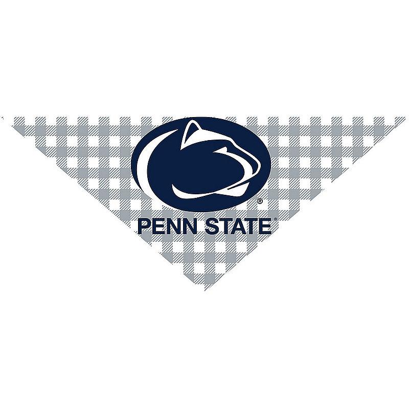 Penn State Buffalo Plaid Dog Bandana