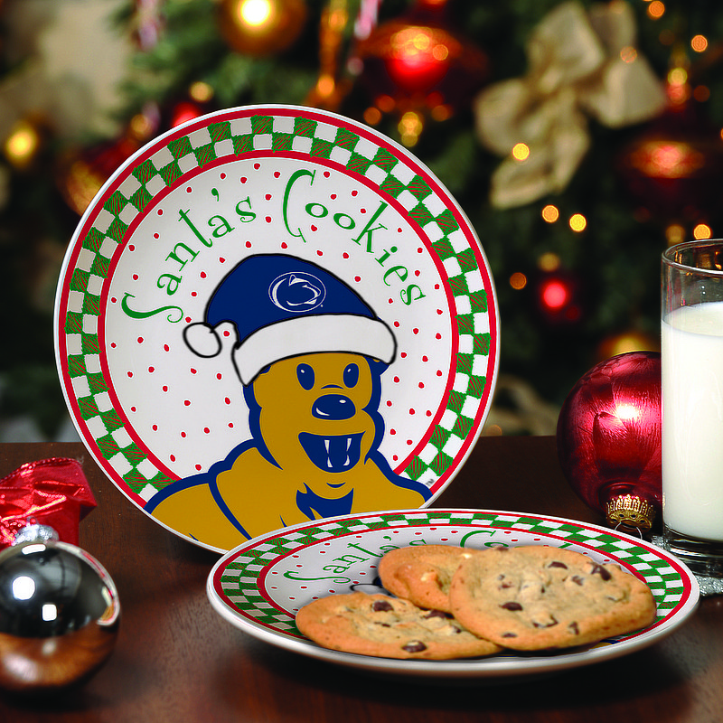 Penn State Ceramic Santa's Cookie Plate Nittany Lions (PSU)