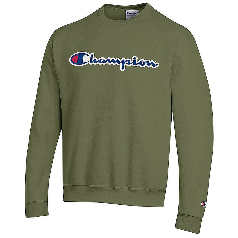 Champion Powerblend Crewneck Sweatshirt Olive Green