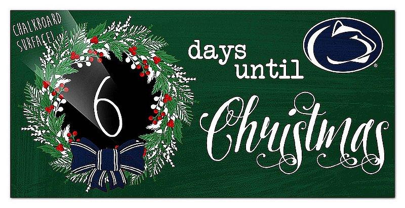 Penn State Christmas Countdown Chalkboard Sign Nittany Lions (PSU)