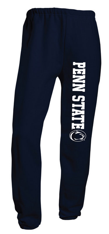 Penn State Closed Bottom Sweatpants Navy Nittany Lions (PSU)