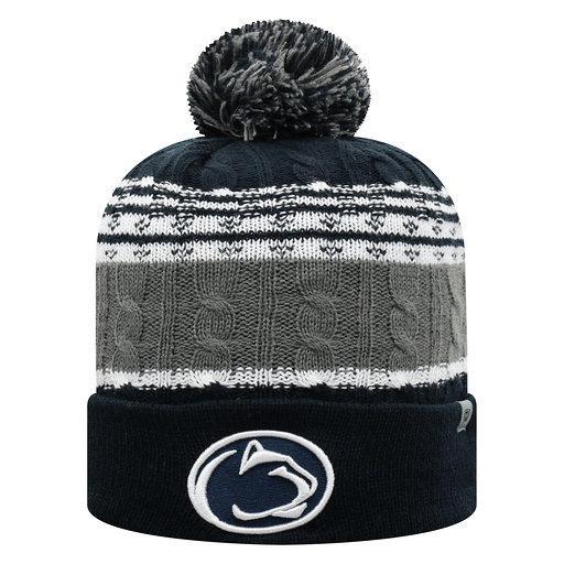 Penn State Cozy Knit Winter Hat with Pom Pom Nittany Lions (PSU)