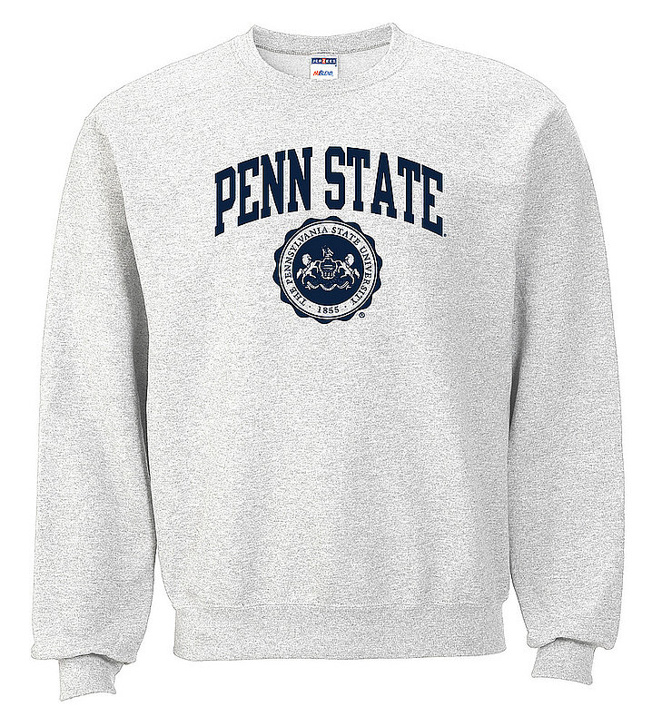 Penn State Crew Neck Sweatshirt Official Seal Ash Nittany Lions (PSU)