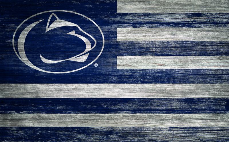 Penn State Distressed Wood Flag Nittany Lions (PSU)