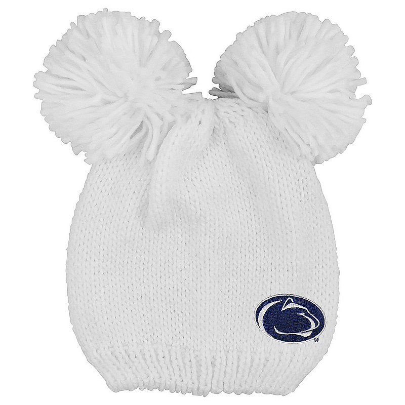Penn State Double Pom Knit Hat White Nittany Lions (PSU)