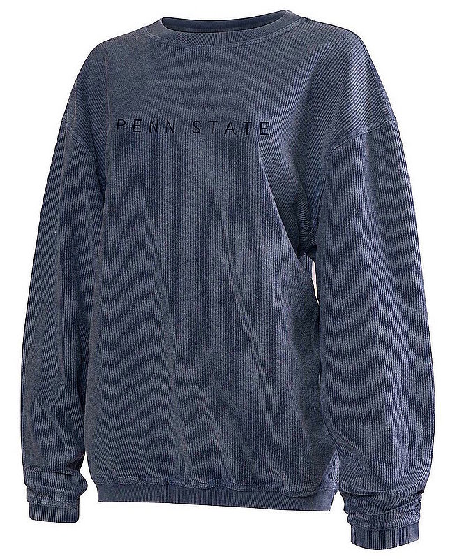 Penn State Embroidered Corded Crew Sweatshirt Navy Nittany Lions (PSU)