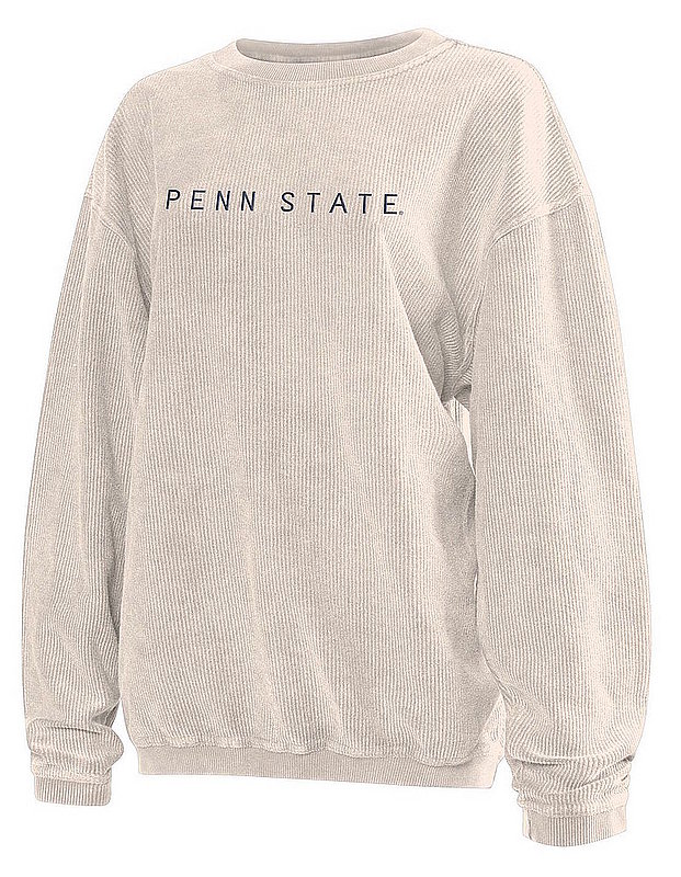 Penn State Embroidered Corded Crew Sweatshirt Oatmeal Nittany Lions (PSU)