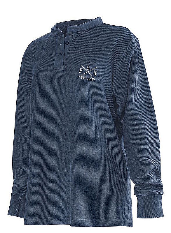 Penn State Embroidered Corded Henley Navy Nittany Lions (PSU)