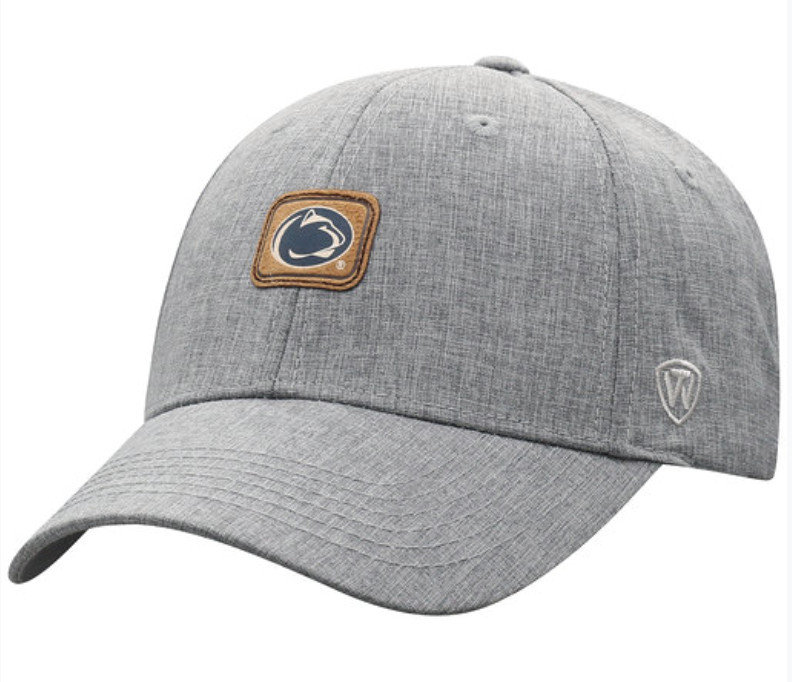 Penn State Feather Grey Adjustable Patch Hat
