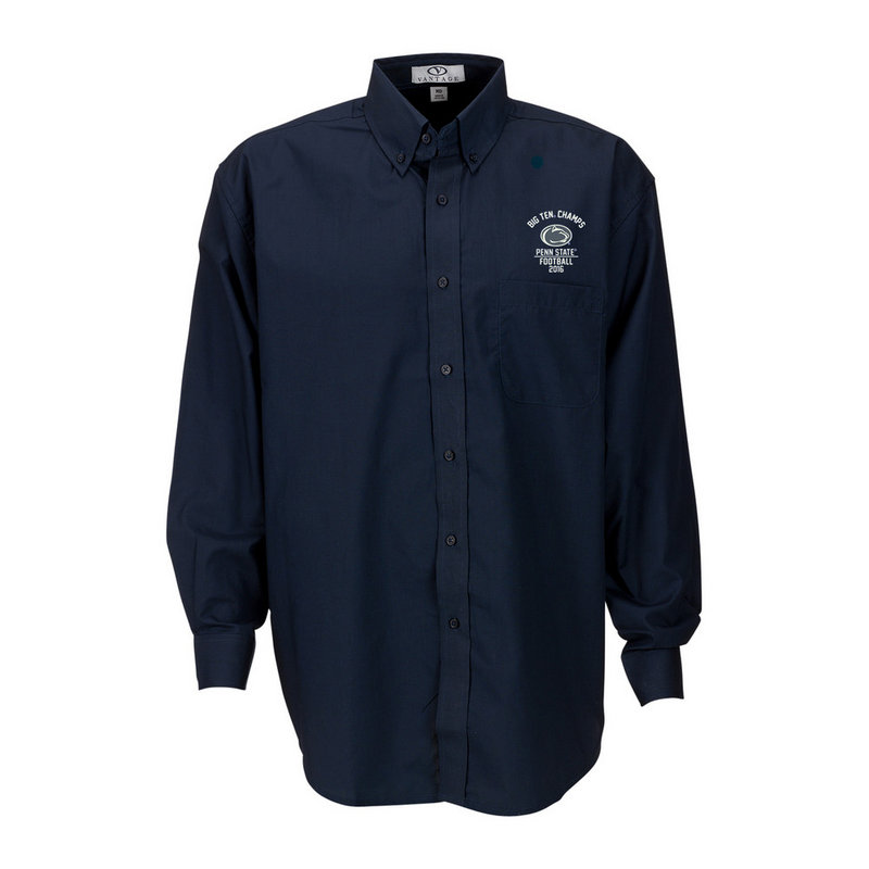 Penn State Football Big Ten Champs Button Up Shirt Navy 2016 Nittany Lions (PSU) E00109478