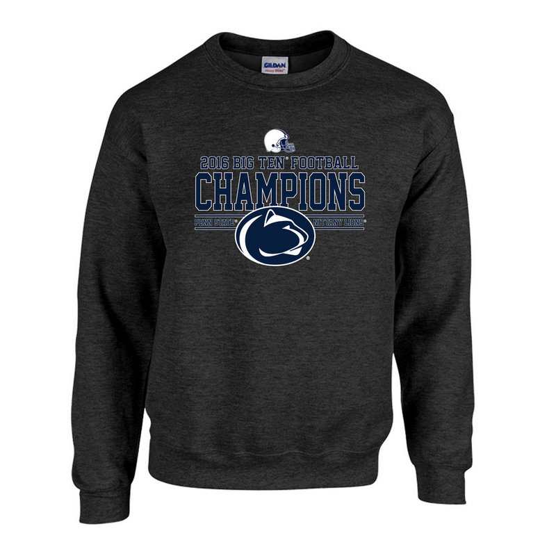 Penn State Football Big Ten Champs Crewneck Sweatshirt Charcoal 2016 Nittany Lions (PSU) P0007041
