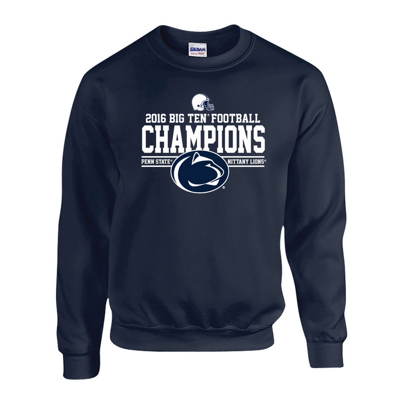 Penn State Football Big Ten Champs Crewneck Sweatshirt Navy 2016 Nittany Lions (PSU) P0007041