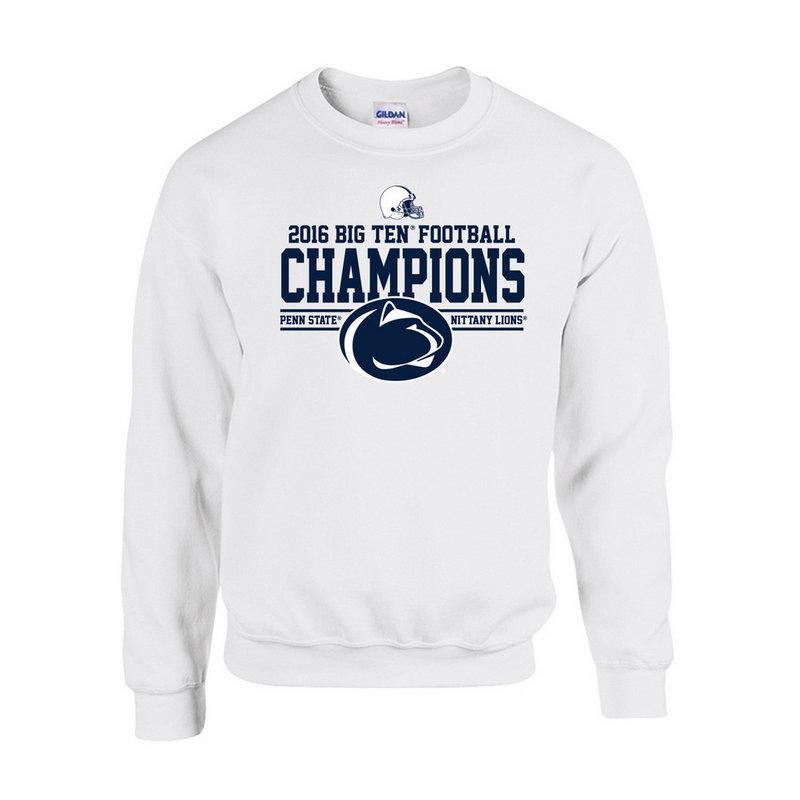 Penn State Football Big Ten Champs Crewneck Sweatshirt White 2016