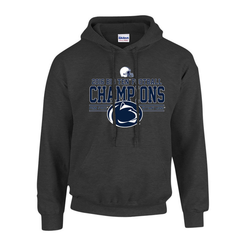Penn State Football Big Ten Champs Hooded Sweatshirt Charcoal 2016 Nittany Lions (PSU) P0007041