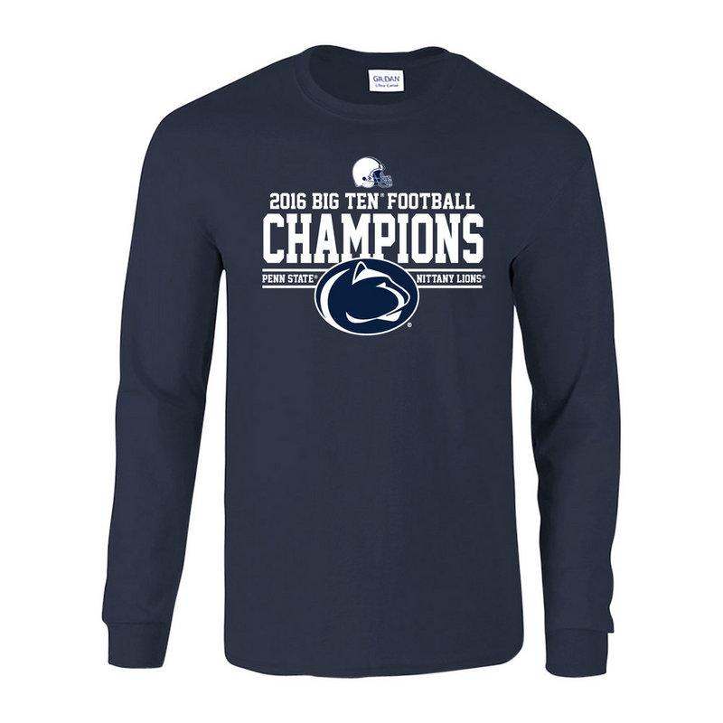 Penn State Football Big Ten Champs Long Sleeve Tshirt Navy 2016 Nittany Lions (PSU) P0007041