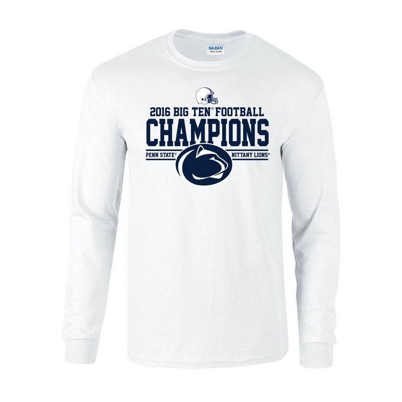 Penn State Football Big Ten Champs Long Sleeve Tshirt White 2016 Nittany Lions (PSU) P0007041