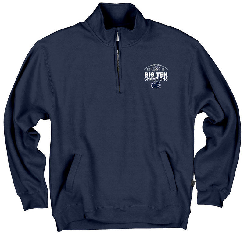 Penn State Football Big Ten Champs Quarter Zip Sweatshirt Navy 2016 Nittany Lions (PSU)