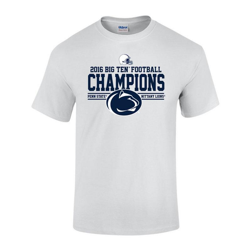 Penn State Football Big Ten Champs Tshirt White 2016 Nittany Lions (PSU) P0007041