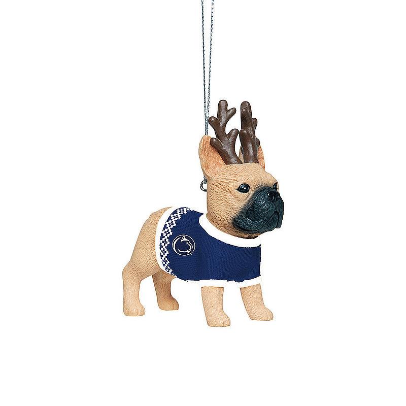 Penn State French Bulldog Wearing Sweater Ornament Nittany Lions (PSU)