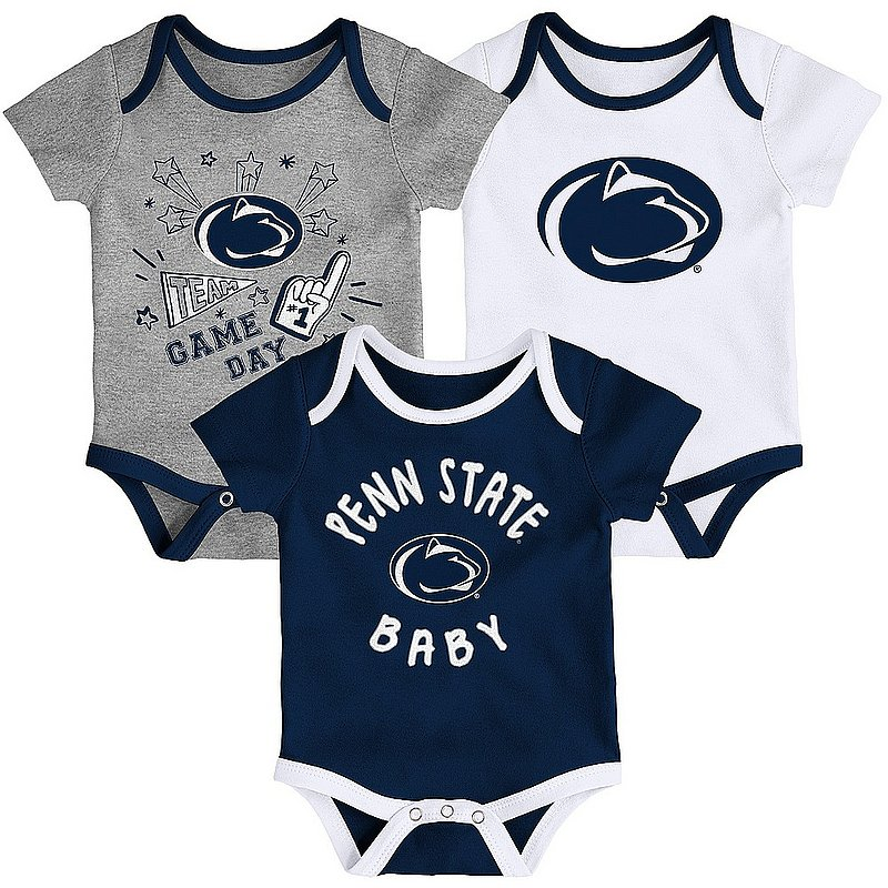 Penn State Game Day Champs Onesie 3-Pack Nittany Lions (PSU)