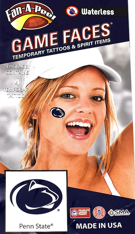 Penn State Game Faces Tattoos - Lion Heads Nittany Lions (PSU) 748532530076