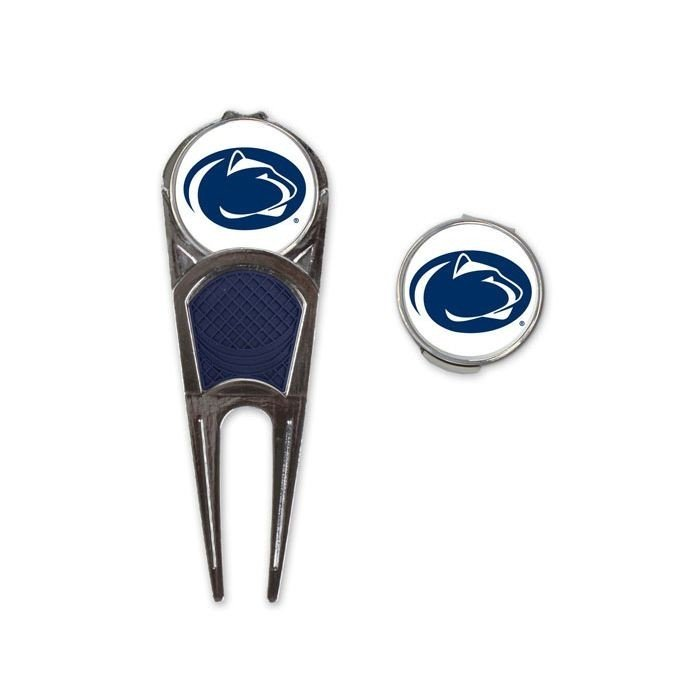 Penn State Golf Divot Fixer with Hat Clip & Ball Marker Nittany Lions (PSU)