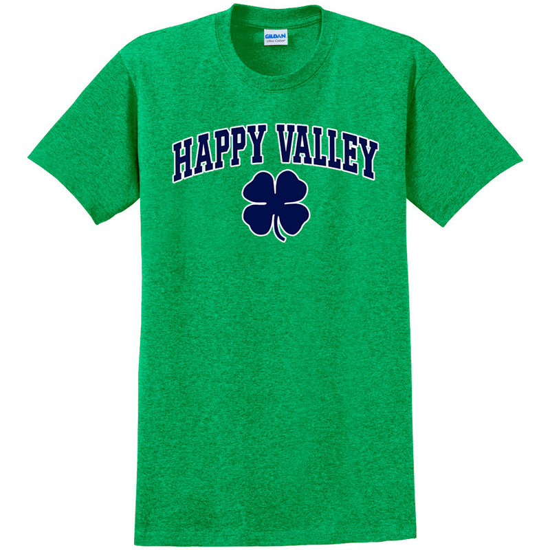 """Penn State Green """"Happy Valley"""" with Shamrock T-shirt Nittany Lions (PSU)"""