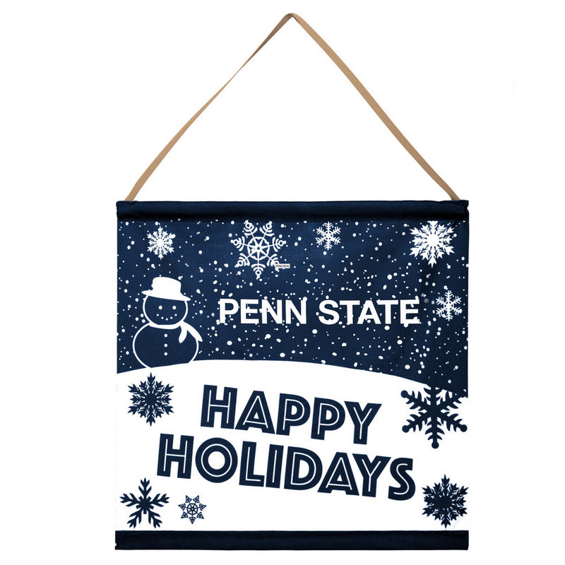 Penn State Happy Holidays Banner Sign Nittany Lions (PSU)