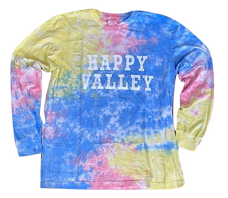 Penn State Happy Valley Blue Burst Tie Dye Long Sleeve Nittany Lions (PSU)