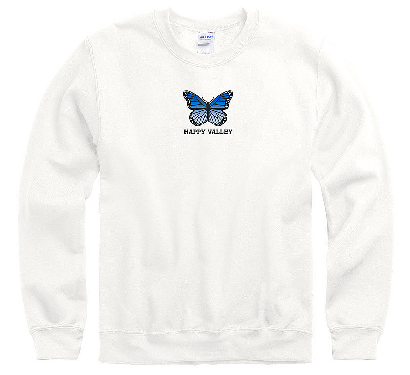 Penn State Happy Valley Blue Butterfly Crewneck Sweatshirt Nittany Lions (PSU)