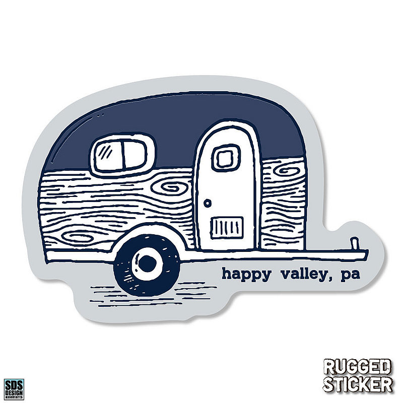 Penn State Happy Valley Camper Rugged Sticker Nittany Lions (PSU)