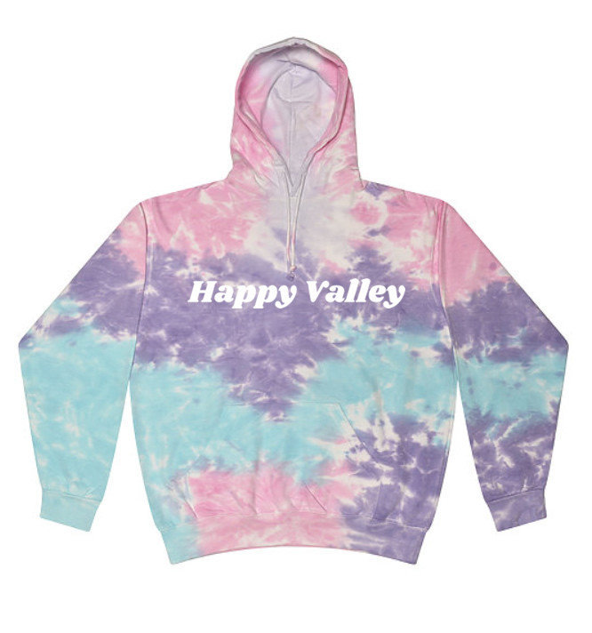Penn State Happy Valley Cotton Candy Tie Dye Hooded Sweatshirt Nittany Lions (PSU)