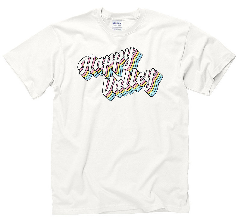 """Penn State Happy Valley """"Groovy"""" Rainbow T-shirt Nittany Lions (PSU)"""