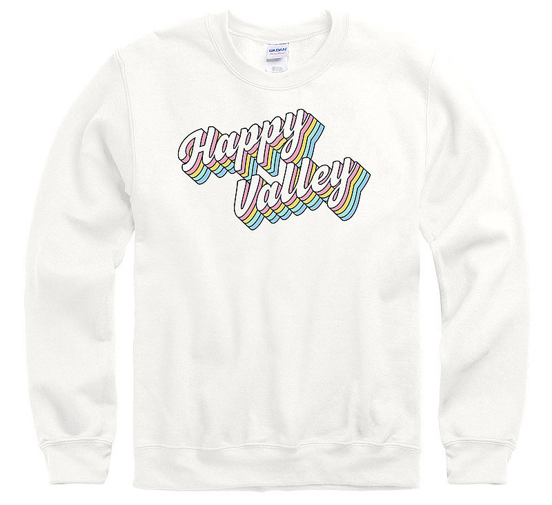 Penn State Happy Valley Groovy Retro Rainbow Crewneck Sweatshirt Nittany Lions (PSU)