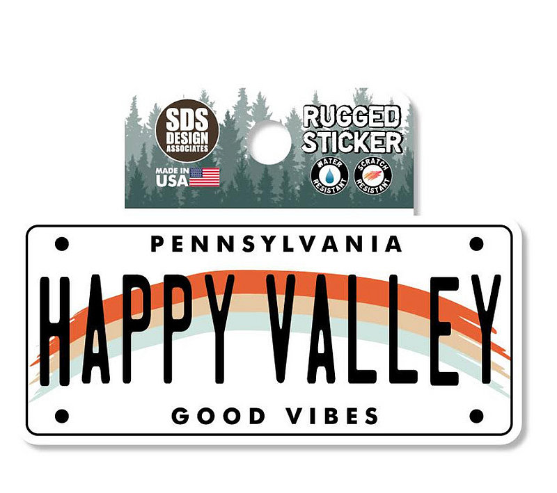 Penn State Happy Valley License Plate Rugged Sticker Nittany Lions (PSU)