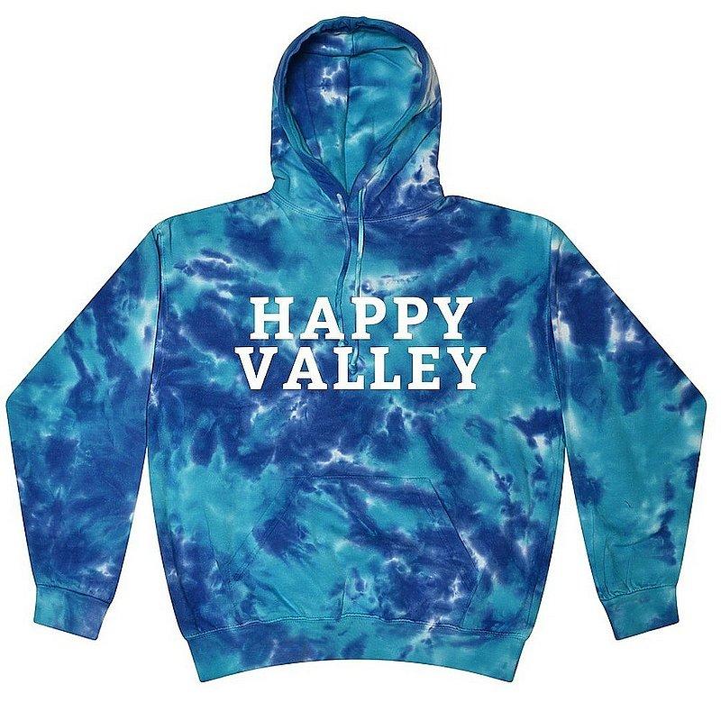 Happy Valley Multi Blue Tie Dye Hooded Sweatshirt