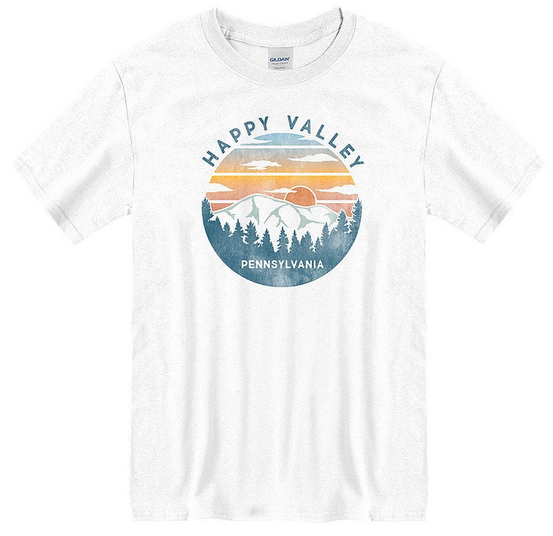 Penn State Happy Valley, Pennsylvania Mountains T-shirt Nittany Lions (PSU)