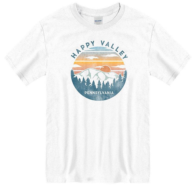 Penn State Happy Valley Pennsylvania Mountains T-shirt White Nittany Lions (PSU)