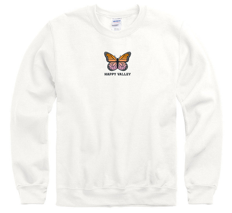 Penn State Happy Valley Pink Butterfly Crewneck Sweatshirt Nittany Lions (PSU)