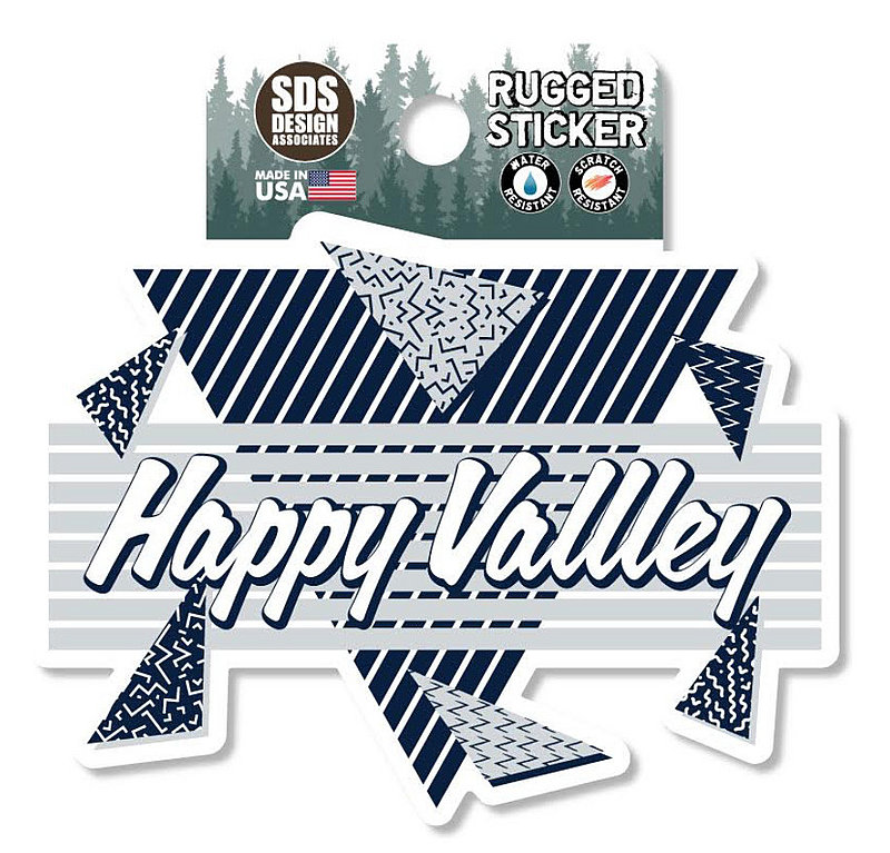 Penn State Happy Valley Retro Rugged Sticker Nittany Lions (PSU)