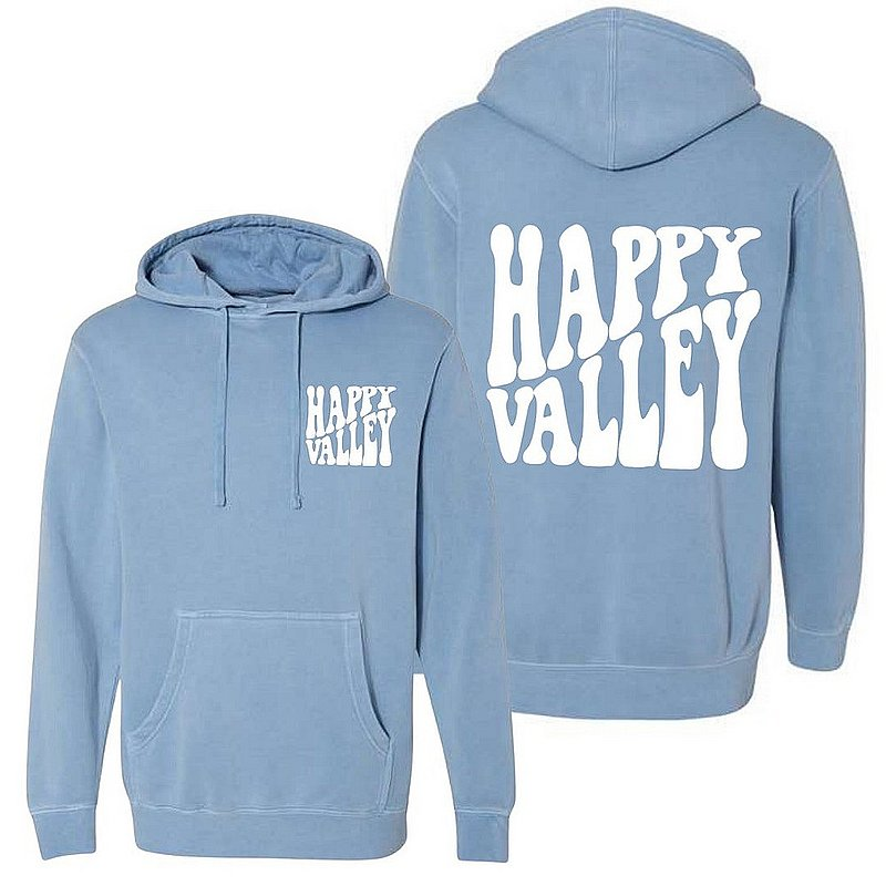 Penn State Happy Valley Retro Wavy Hooded Sweatshirt Light Blue Nittany Lions (PSU)
