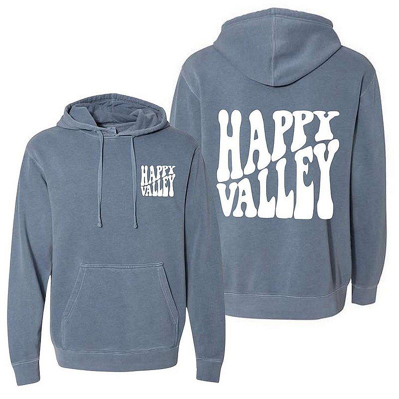Penn State Happy Valley Retro Wavy Hooded Sweatshirt Slate Blue Nittany Lions (PSU)