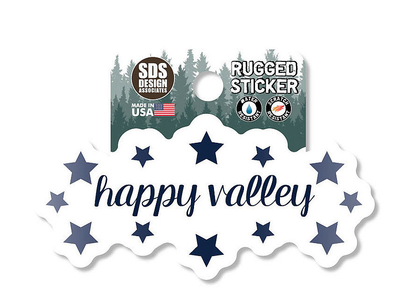 Penn State Happy Valley Stars Rugged Sticker Nittany Lions (PSU)