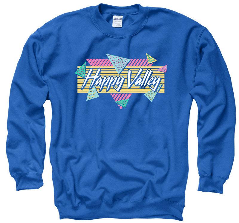 Penn State Happy Valley Vintage 90's Inspired Crewneck Sweatshirt Nittany Lions (PSU)
