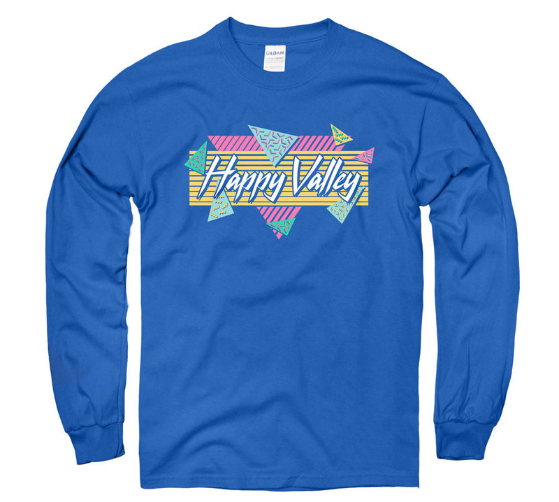 Penn State Happy Valley Vintage 90's Inspired Long Sleeve Nittany Lions (PSU)
