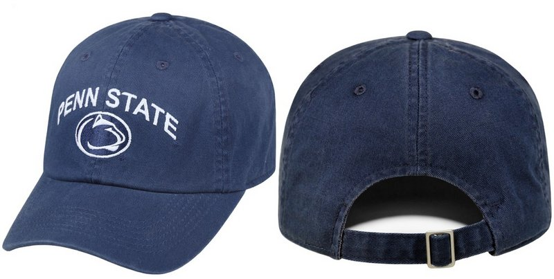 Penn State Hat Navy Arching Over Relaxed Fit Nittany Lions (PSU)
