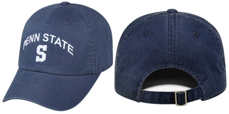 Penn State Hat Relaxed Fit Navy Arching Over Block S Nittany Lions (PSU)
