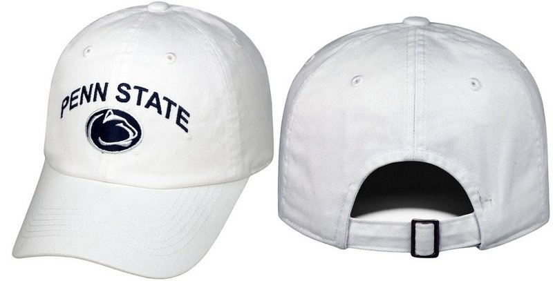 Penn State Hat White Arching Over Relaxed Fit