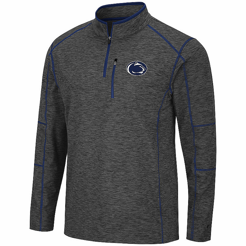 Penn State Heather Charcoal Platonish Quarter Zip Nittany Lions (PSU)